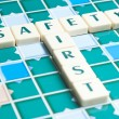 Stock Photo: Safety word made by letter pieces
