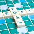 Profit word made by letter pieces — Stock Photo
