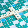 Education word made by letter pieces — Stock Photo #8218499