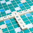 Customer Trust word made by letter pieces — Stock Photo