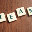 Team word made by letter pieces — Stock Photo