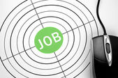 Job target and pc mouse — Stock Photo