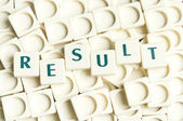 Result word made by leter pieces — Stock Photo