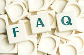 FAQ word made by leter pieces — Stock Photo