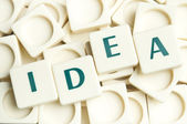 Idea word made by leter pieces — Stock Photo