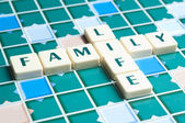 Family Life word made by letter pieces — Stock Photo