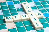 Social Media word made by letter pieces — Stock Photo