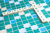 Customer Service word made by letter pieces — Stock Photo