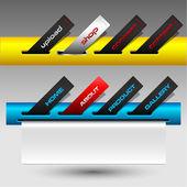 Renkli düğmeler bilet sitesi menüsü — Stok Vektör