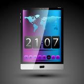 Koncept Tablet s dotykovou obrazovkou — Stock vektor