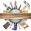 Carpentry background - Stock Photo
