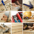 Woodwork collage - Stock Photo