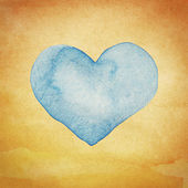 Watercolor heart — Stock Photo