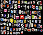 Torn alphabet — Stock Photo