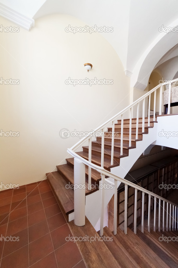 Classic building interior. Empty stairway.  Stock Photo #9238110
