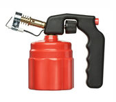 Red blowtorch — Stock Photo