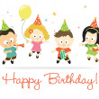 Royalty-Free Stock Vector Image: Happy Birthday kids 2