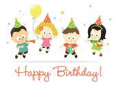 Niños feliz cumpleaños 2 — Vector de stock