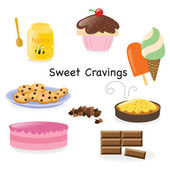 Sweet cravings — Stock Vector