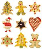 χριστουγεννίατικη συλλογή cookie — Φωτογραφία Αρχείου
