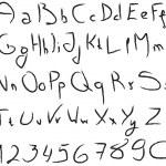 grunge 手写的字母表 — 图库照片