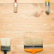 Different paintbrushes — Stockfoto