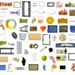 Collection of many objects — Stockfoto