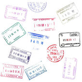 Passport Stamps — 图库照片