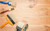 Different paintbrushes — Stock Photo
