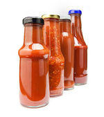 Ketchup bottles — Stock Photo