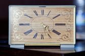 Retro table clock face — Zdjęcie stockowe