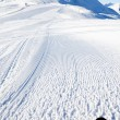 Stock Photo: View on empty fresh-made ski slope