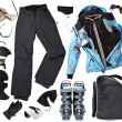 Female skier clothes — Stock Photo