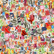 Colorful letters collage - Stock Photo