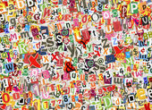 Colorful letters collage — Stock Photo