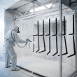 Powder coating - Stock Photo