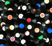 Vinyl records background — Stock Photo