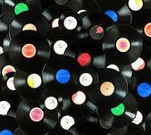 Vinyl records background — Stock Photo