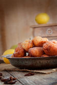 Bowl of Deep fried fritters — Stock Photo
