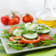 Healthy vegetable salad — Stock Photo