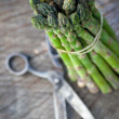 Freshly harvested asparagus - Stock Photo