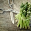Stock Photo: Freshly harvested asparagus