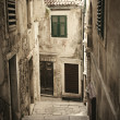 Stock Photo: Old medieval alley