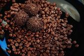 Chocolate balls with sprinkles — Stock Photo