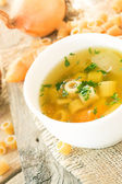 Vegetable soup with pasta — Stock Photo