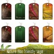 Nature Eco friendly tags — Stock Photo