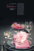 Valentine day romantic table setting — Φωτογραφία Αρχείου