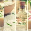Royalty-Free Stock Photo: Spa collage with bath salt and flower