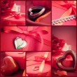 Valentines day  red collage — ストック写真