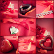 Valentines day  red collage — Stock Photo